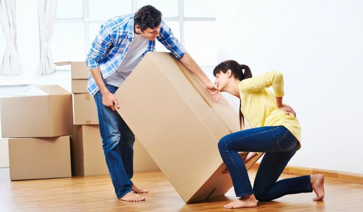 low back pain while moving boxes